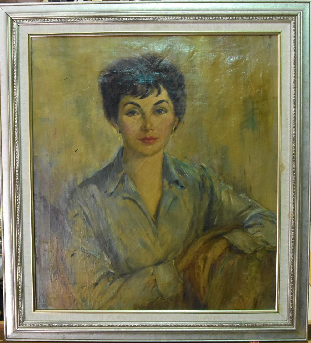 Original Oil on Canvas Portrait of a Woman