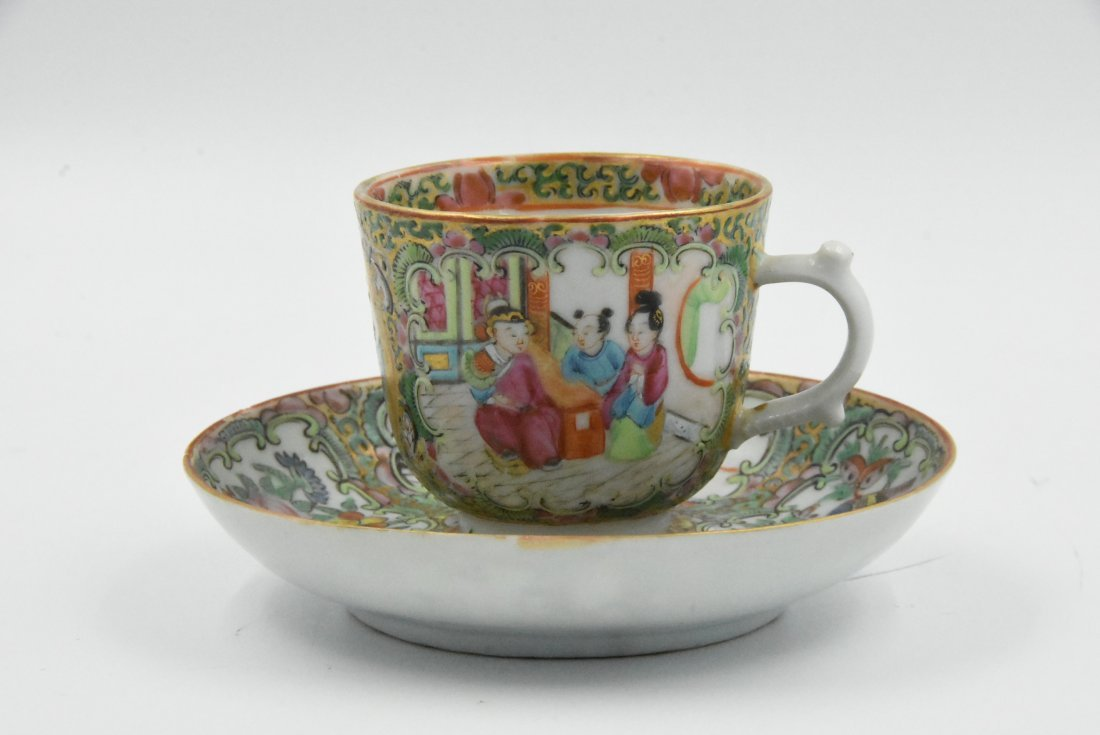 Chinese Rose Medallion Tea Cup Circa 1860s
