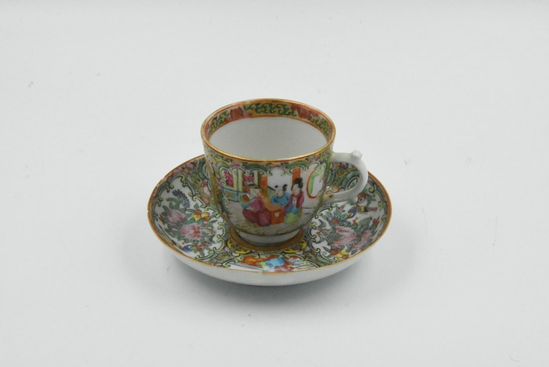 Chinese Rose Medallion Tea Cup Circa 1860s - 2