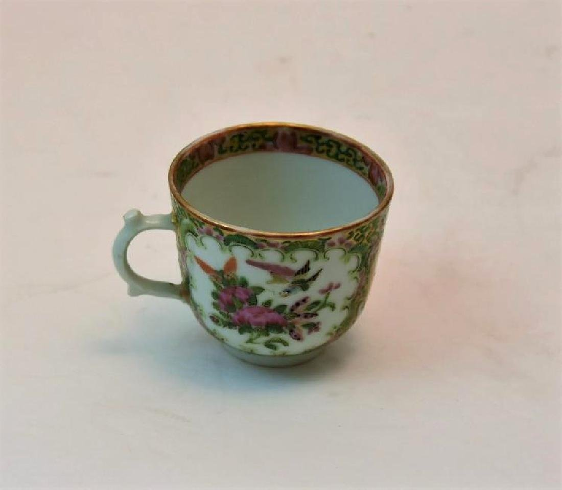 Chinese Rose Medallion Tea Cup Circa 1860s - 3