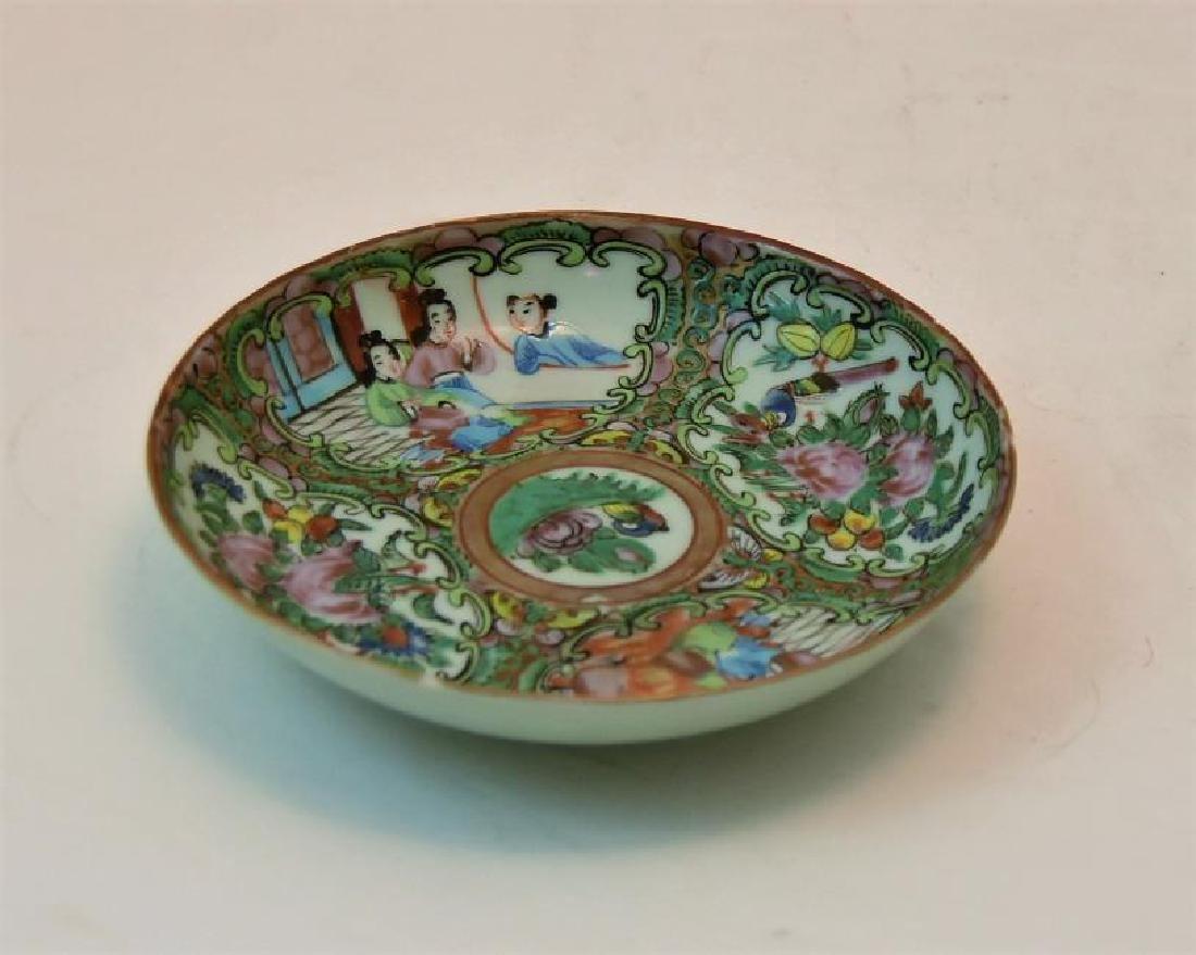 Chinese Rose Medallion Small Bowl set Circa 1860s
