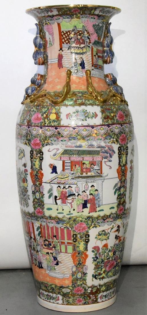 Oriental Pot Ceramic Hand Painted