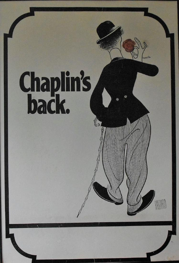 "Chaplin's Back 1930s poster by Harschfeld Rair ""The"