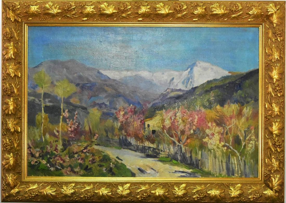 """Isaak Il'ich Levitan """"Spring In Italy"""" in the manner of"""