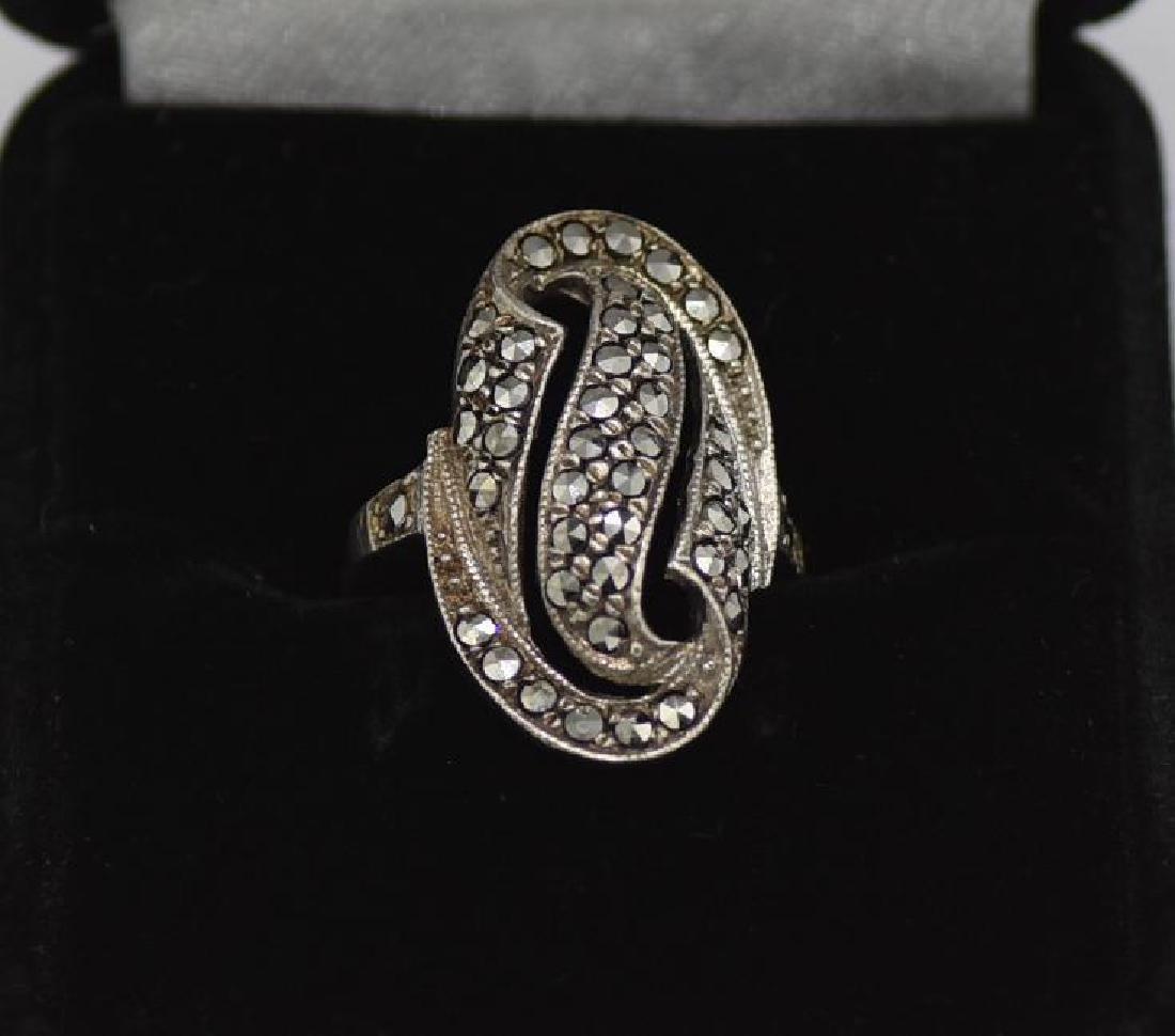Vintage German Sterling Marcasite Ring