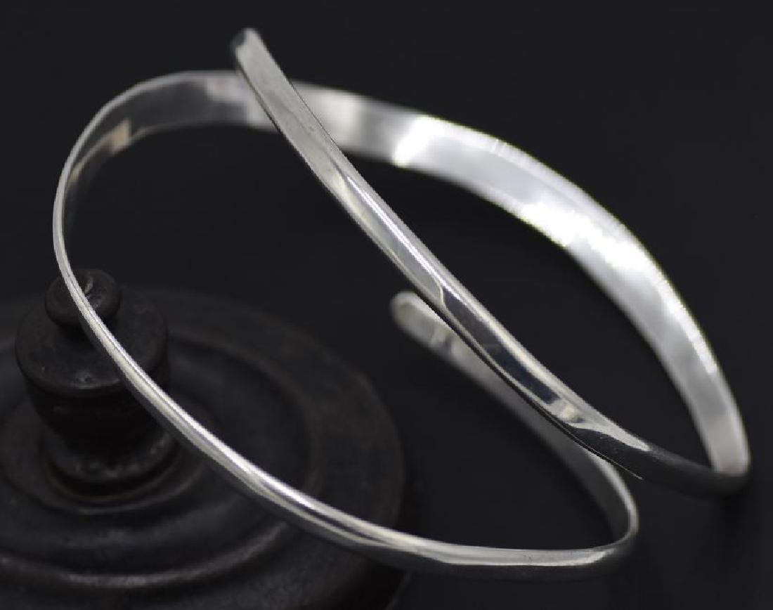 """Freeform Sterling Silver """"M"""" Bangle Bracelet Artist"""