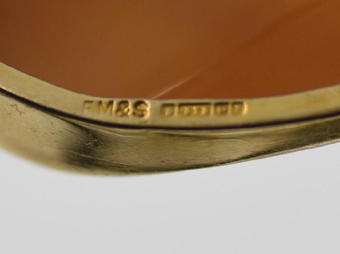 Vintage Cameo Brooch/Pendant Adorned FM&S 375(9K) Gold - 3
