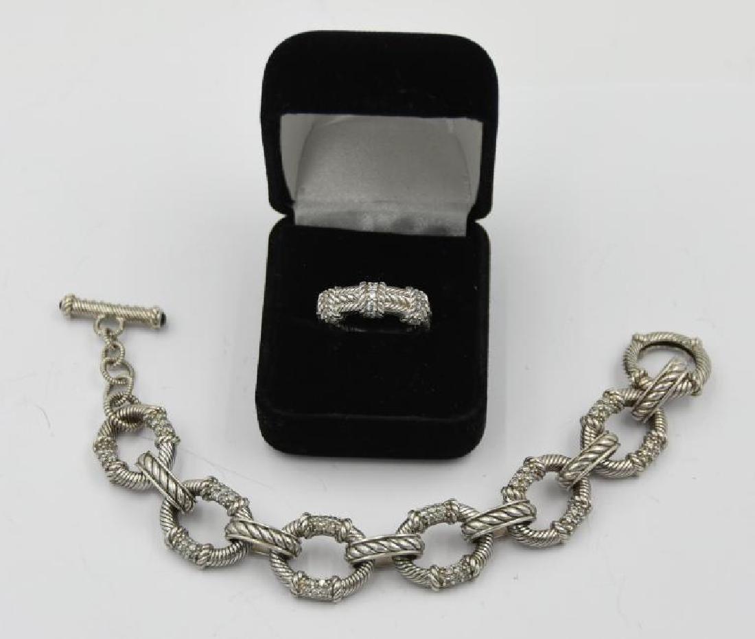 Judith Ripka 925 Silver Ring and Bracelet