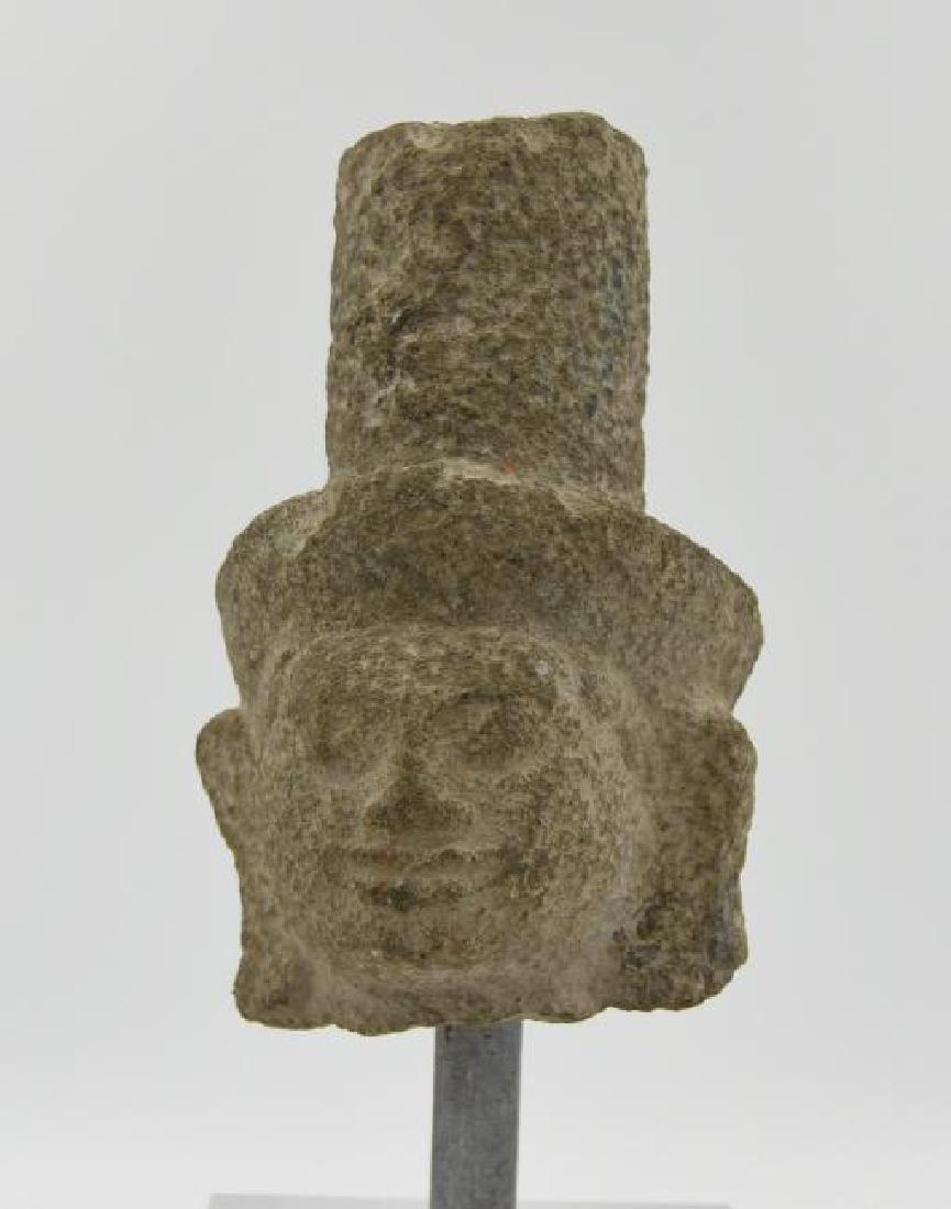 Khmer Buddha Carved Stone Head Circa 6th Century