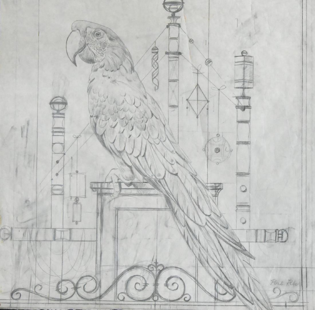 Paul Riba Drawing Graphite on Paper Original