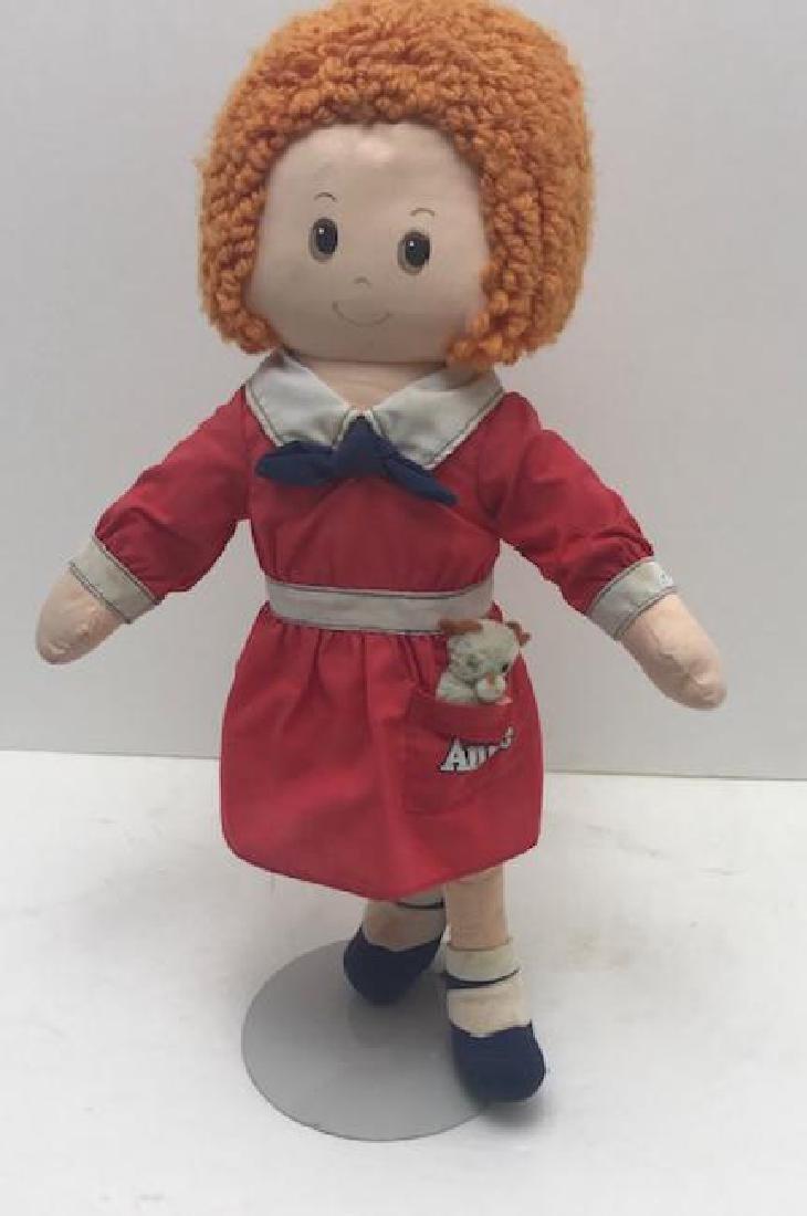 "Vintage Annie Doll with Dog Sandy Knickerbocker 16"""