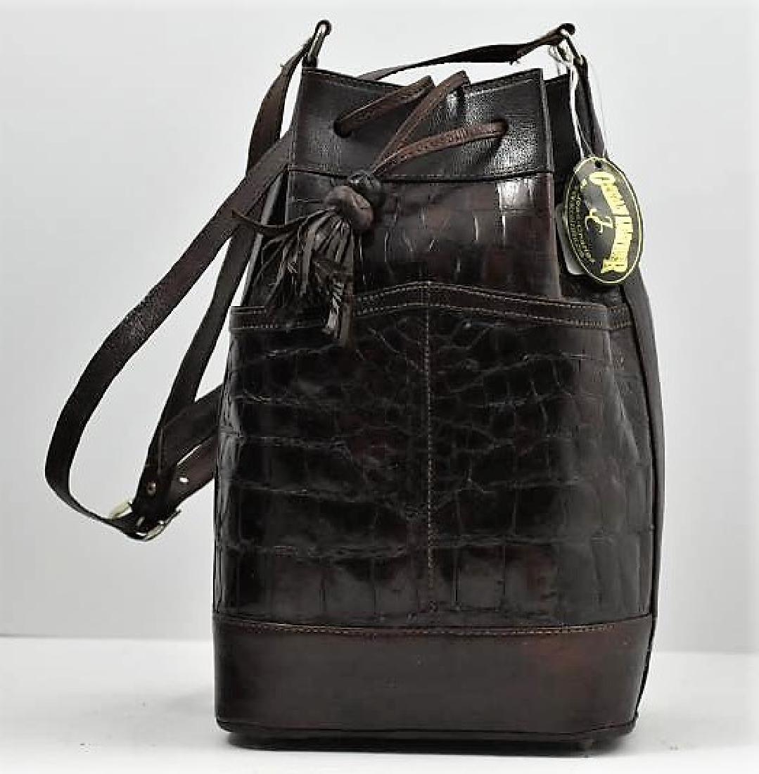 New Crocodile drawstring handbag