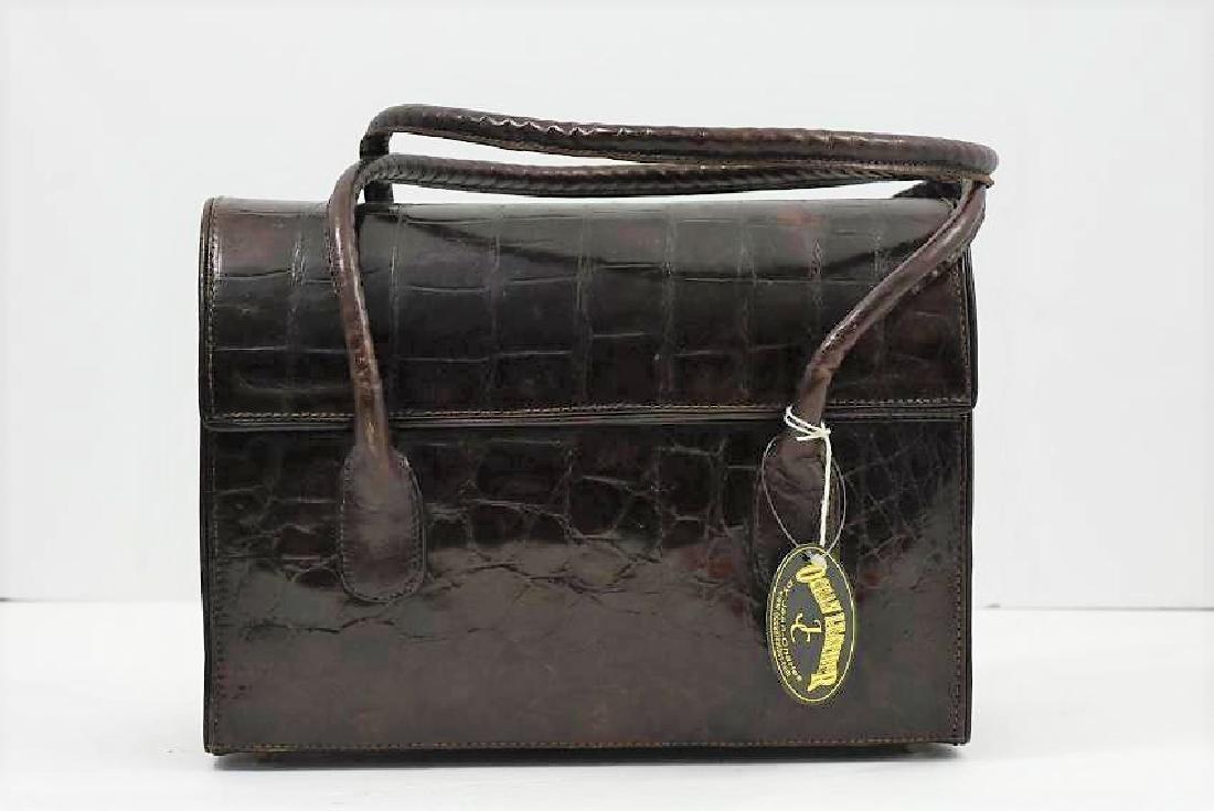 Real crocodile handbag