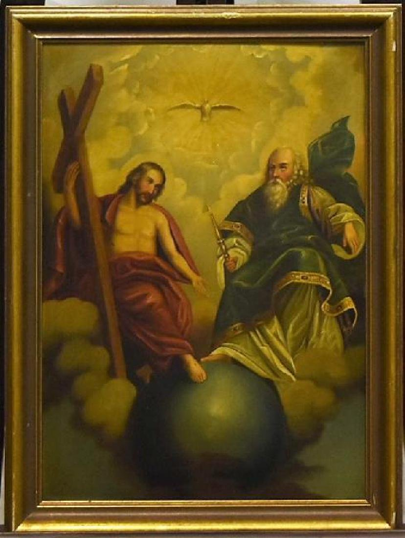 Original Biblical Scene oil on Tin