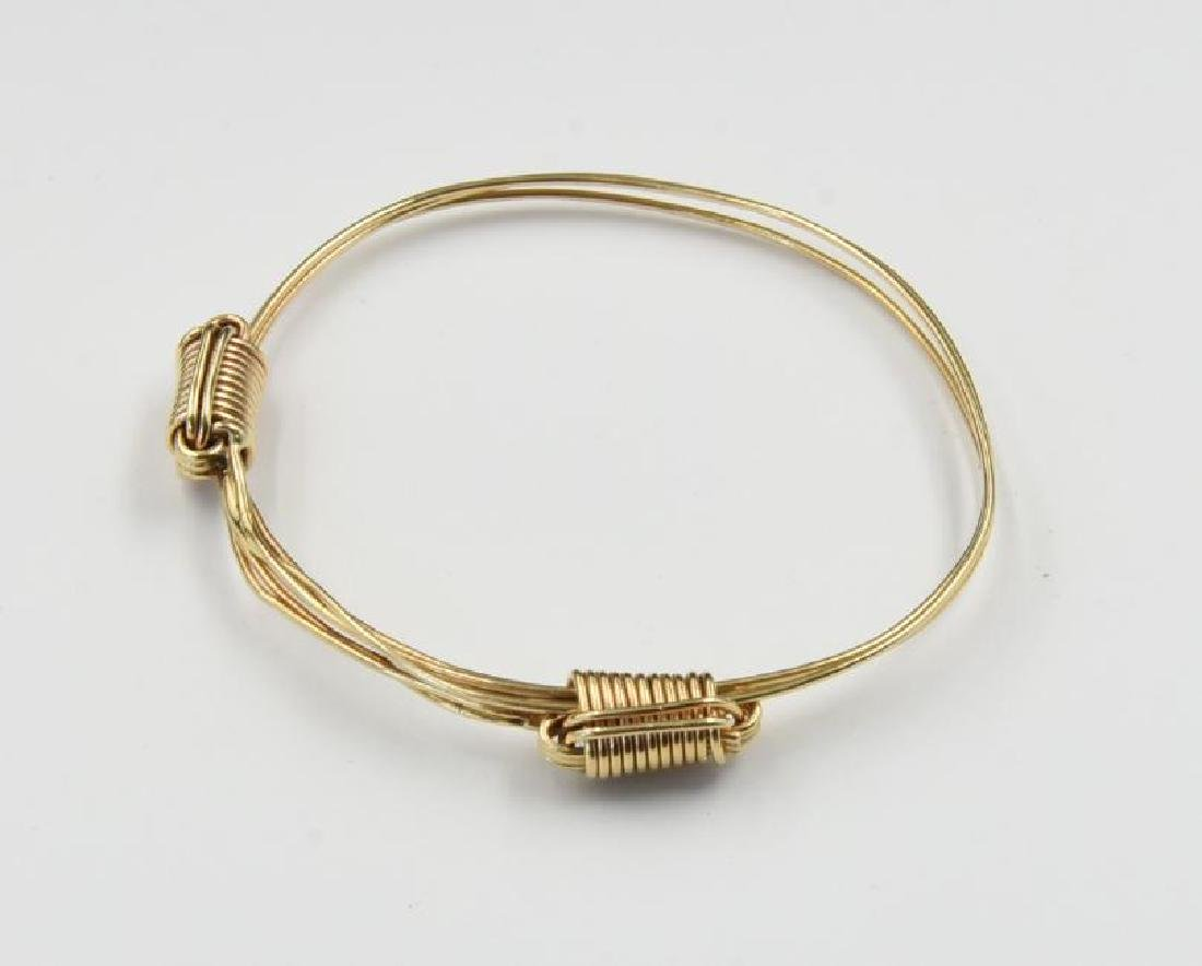 Gold Slave Bracelet Marked 14K in the maner of Yurman