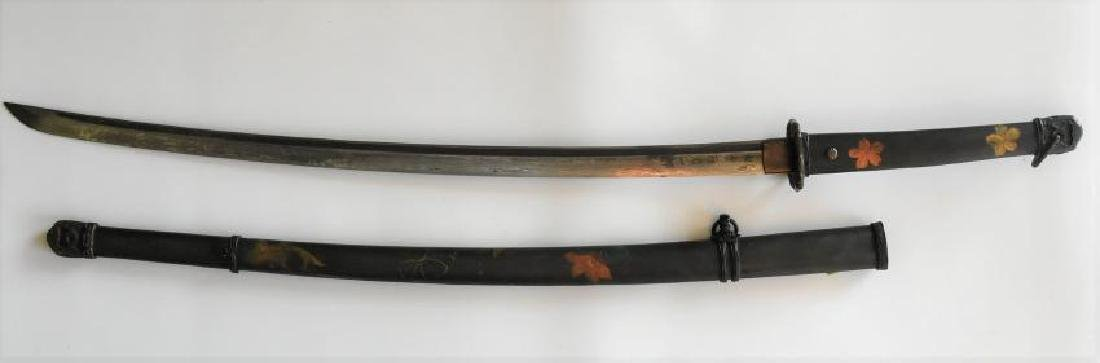 Japanese WWII Samurai Officers sword, Scabbard