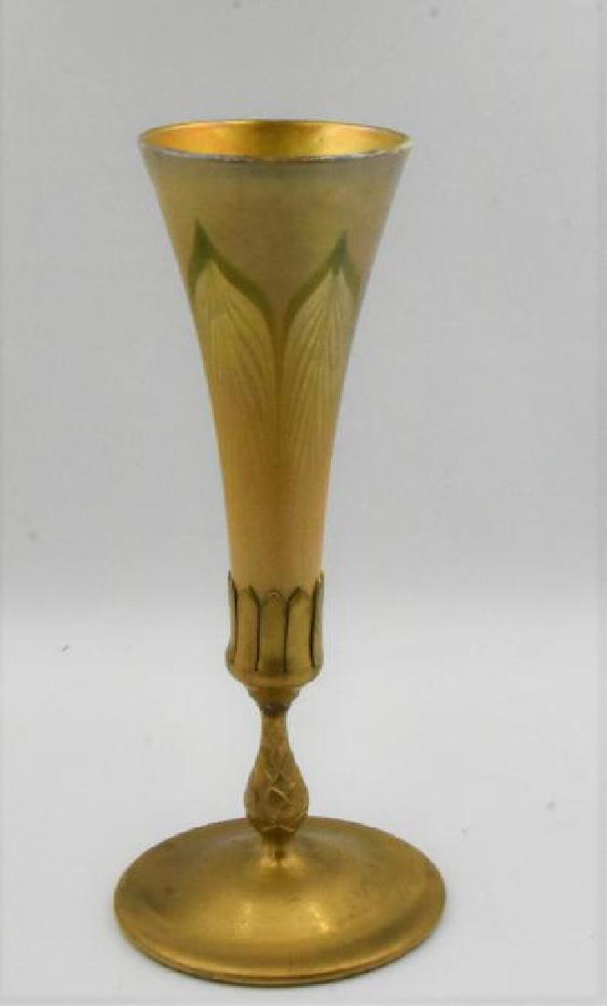 Tiffany Studios Gilt Bronze and Favrille Glass Trumpet