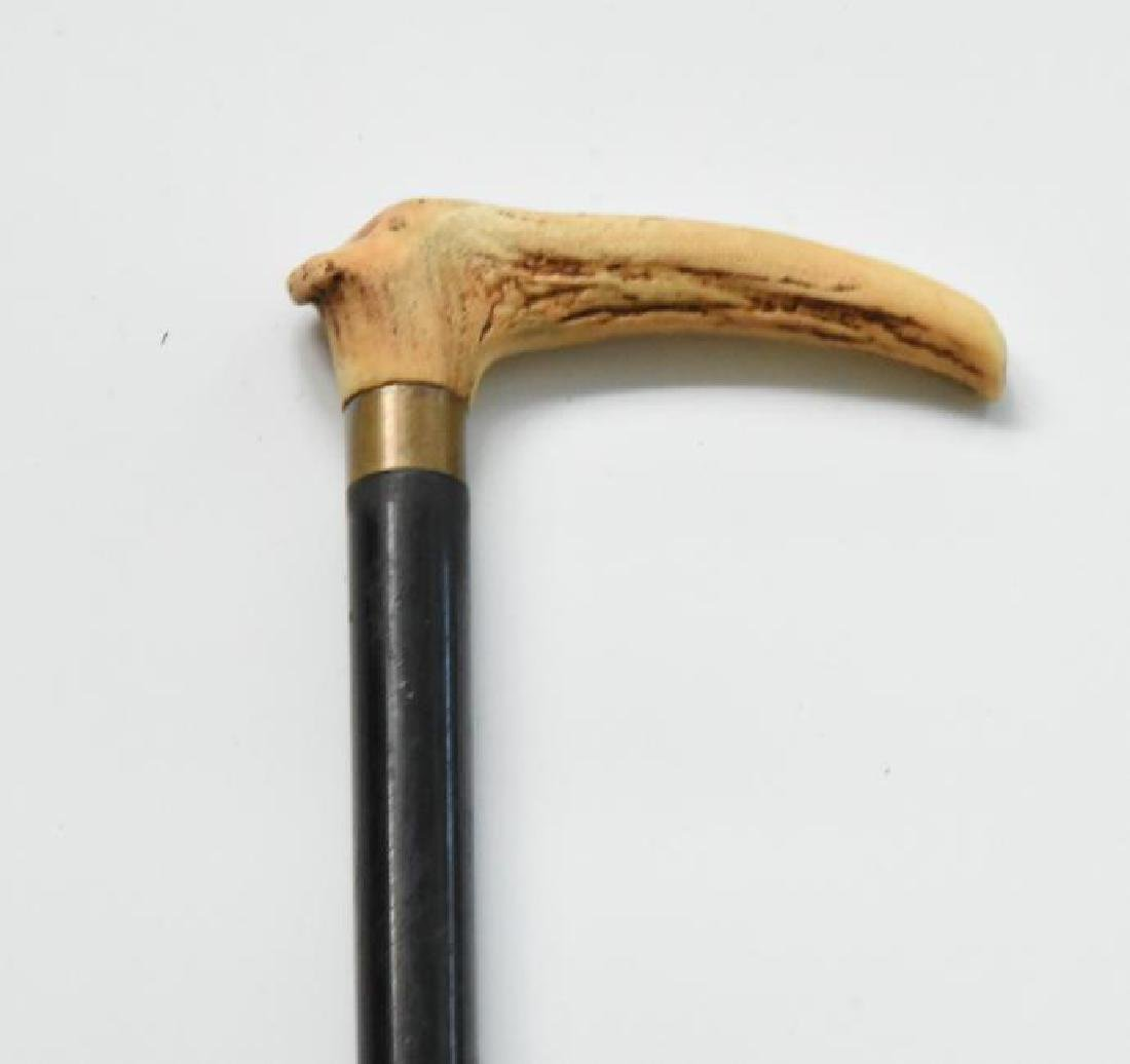 Elk Horn Handle Cane Antique