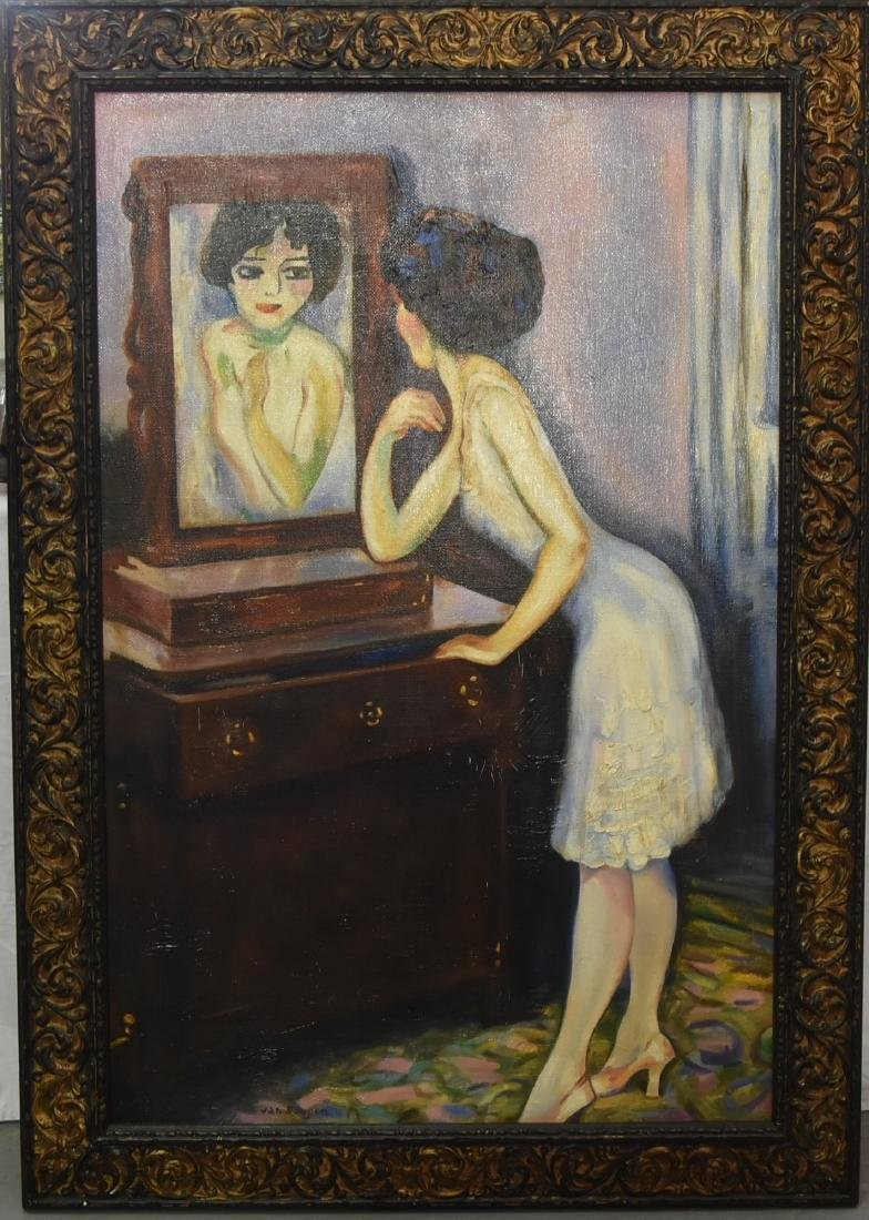 Kees Van Dongen, Lady Dressing  (1877-1968) Oil on