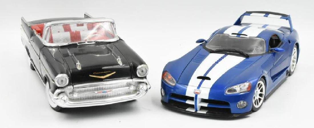 (2) Model Cars 57 Chevy and Dodge Viper