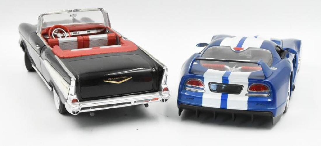 (2) Model Cars 57 Chevy and Dodge Viper - 2
