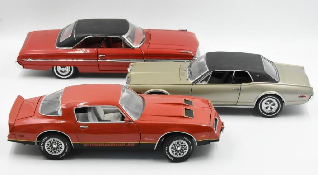 (3) Model Cars Pontiac, Ford and Cougar - 2