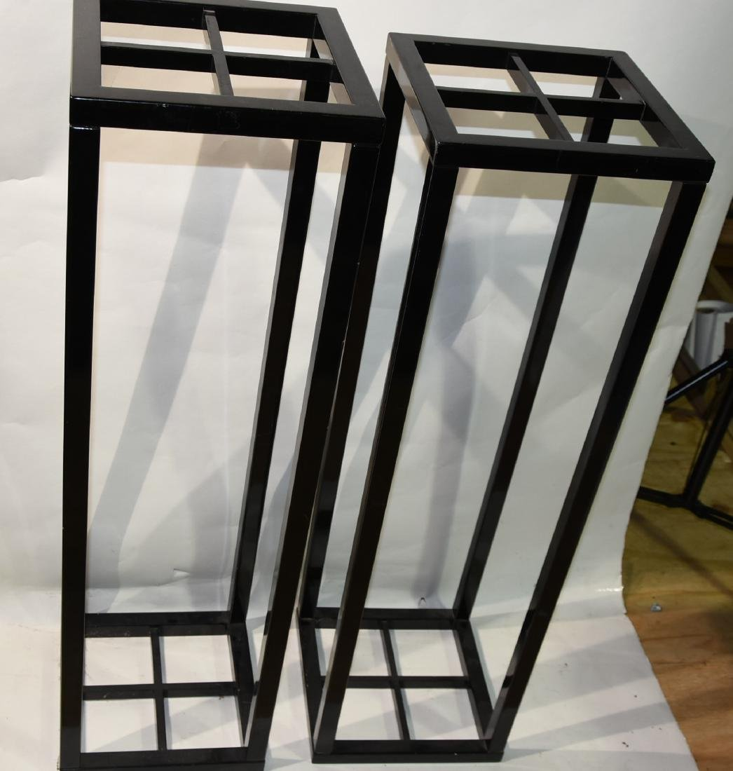 2 Black pedestals Mid-Century