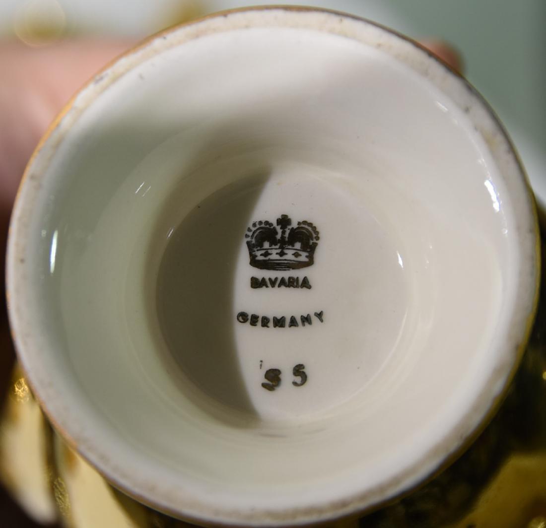 Hansel  Bavarian 14K Porcelain 6 pice Germany - 2
