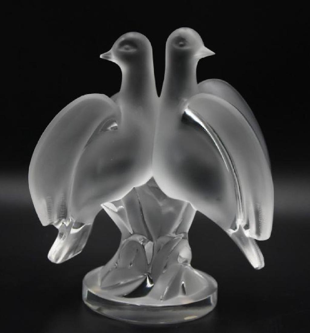Lalique crystal doves