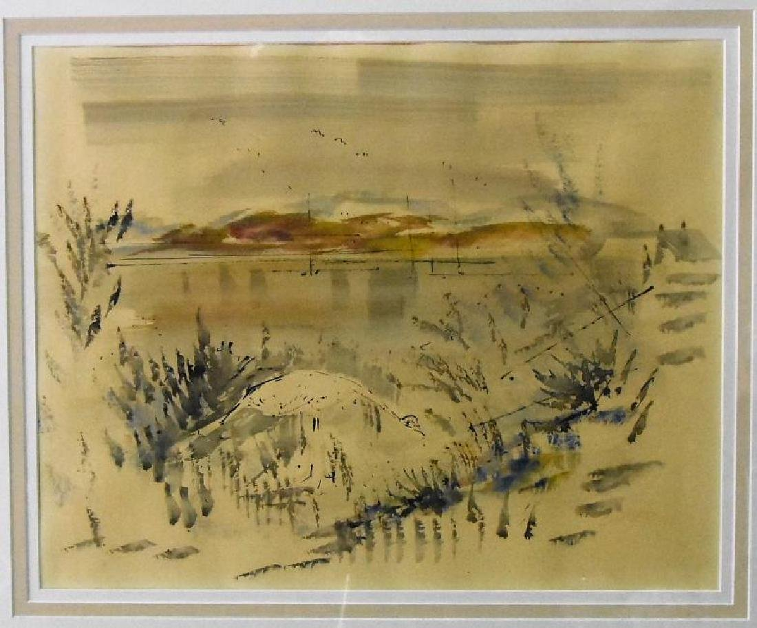 Alfred Birdsey Signed Original Watercolor on water
