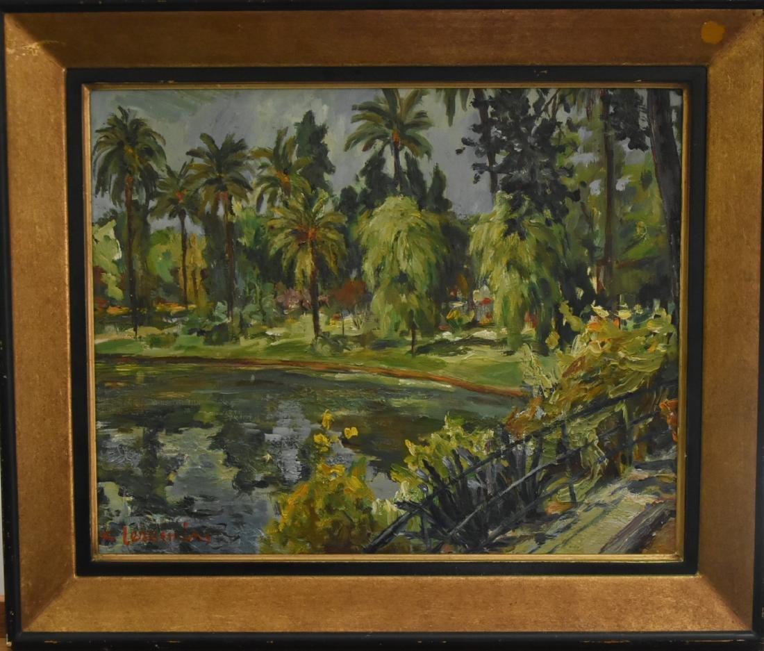 Original Artist Signed Painting of Luc del mare