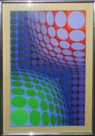 VICTOR VASARELY SIGNED LIMITED EDITION SERIGRAPH