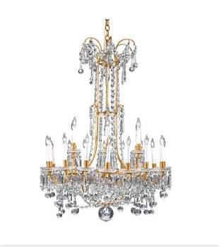 Baccarat Crystal Twenty light Chandelier