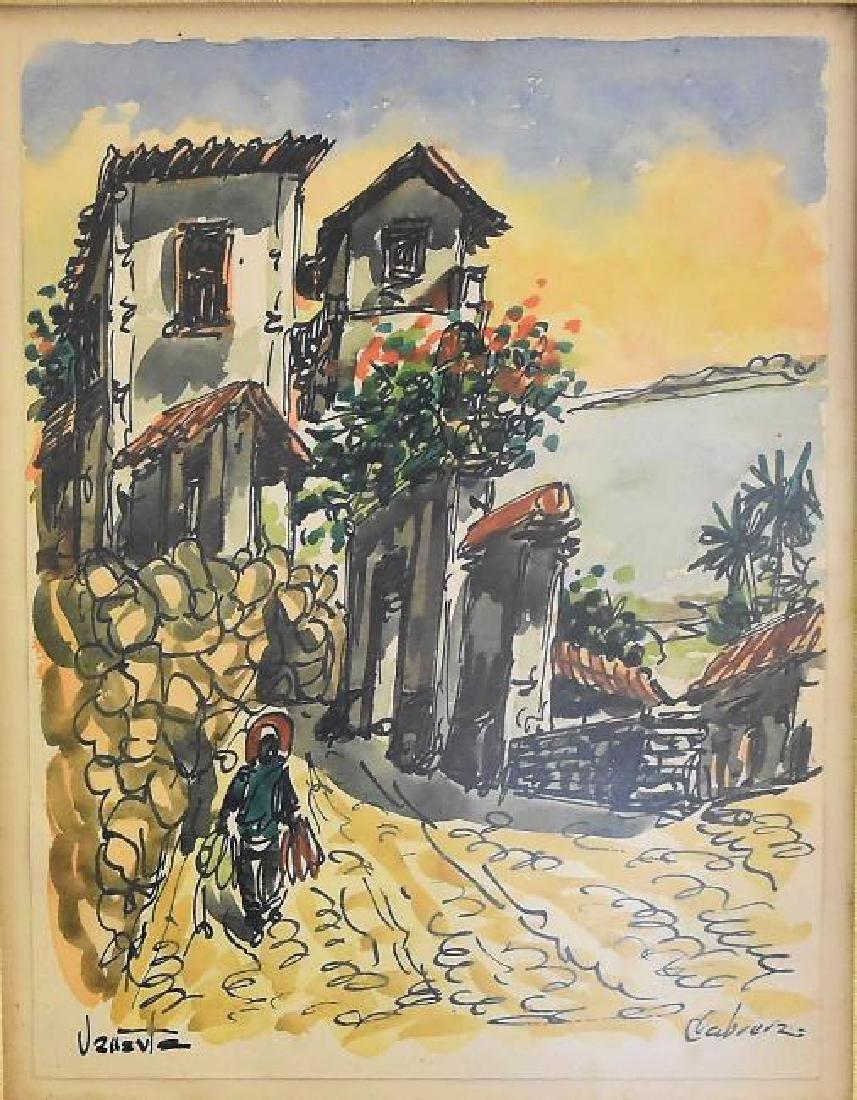 Original Artist Signed Watercolor Painting