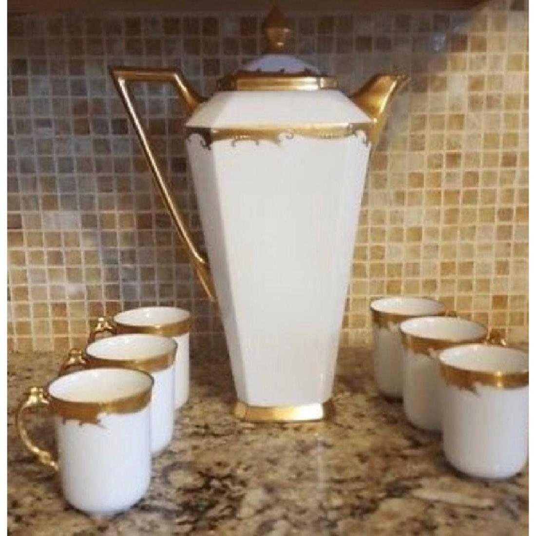 Antique Limoges France porcelain Chocolate Pot with