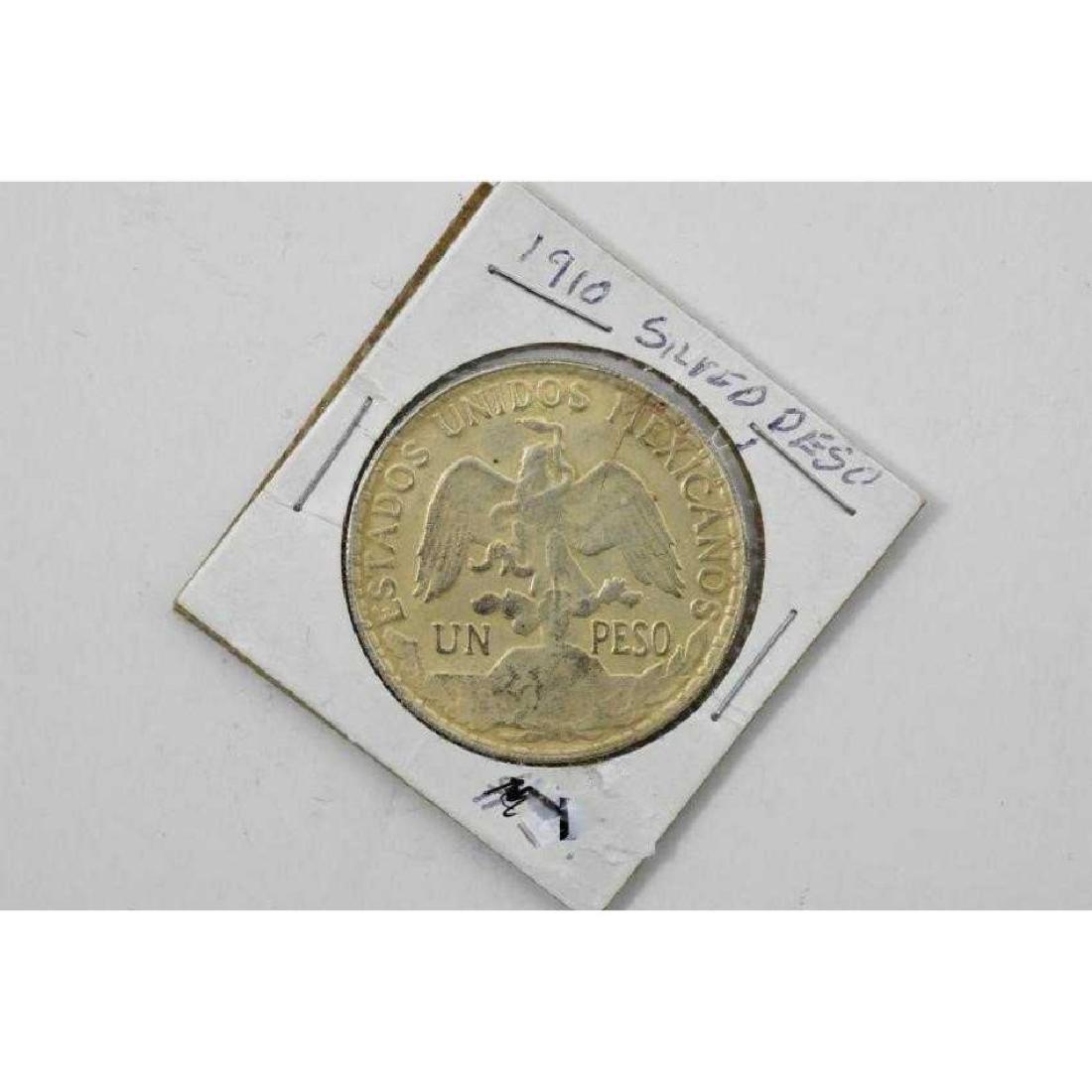 Mexican 1 peso Silver 1910