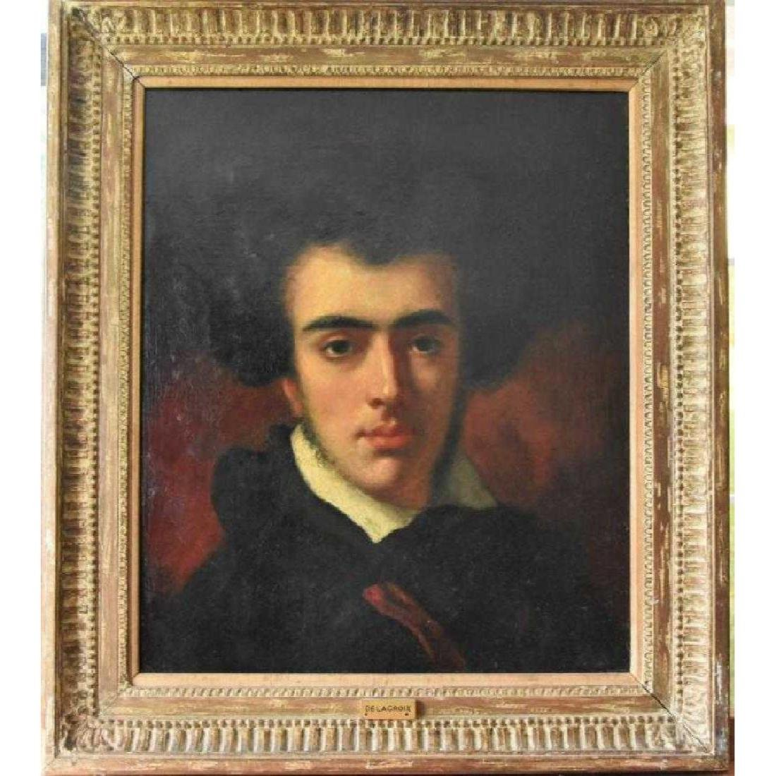 Eugene Delacroix original oil on canvas
