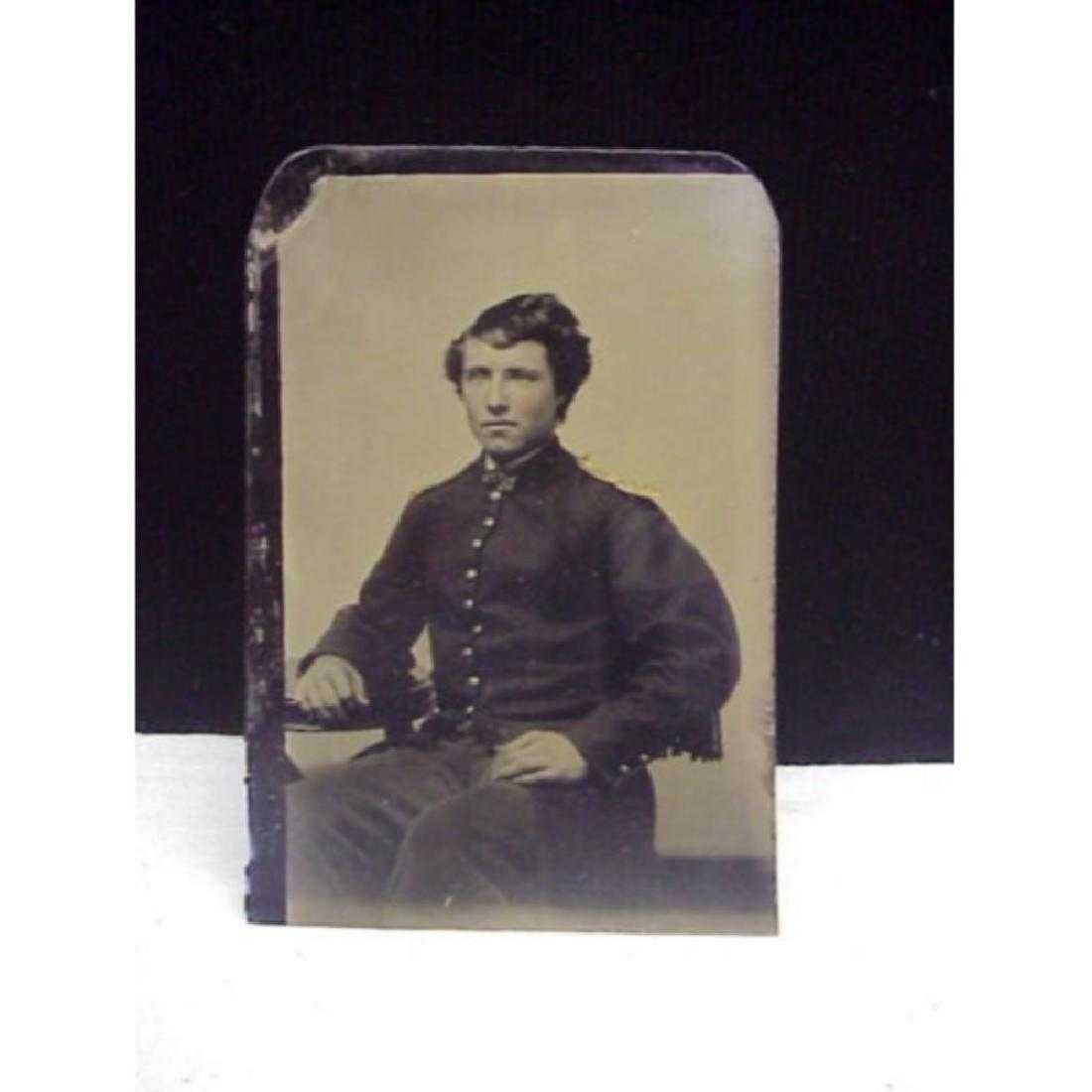 Antique Civil War Union Soldier Tintype