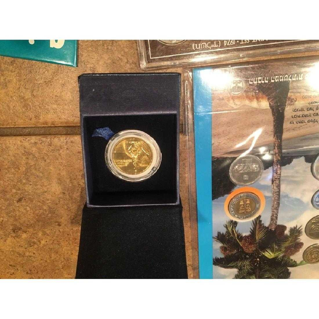 Israel Coin sets and rare pope Medal - 4