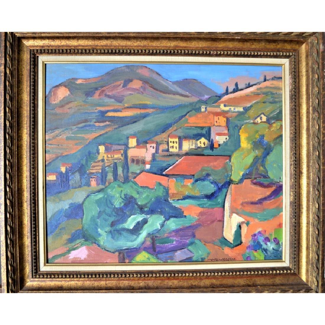 Mathieu Wiegman - Oil on Cavass
