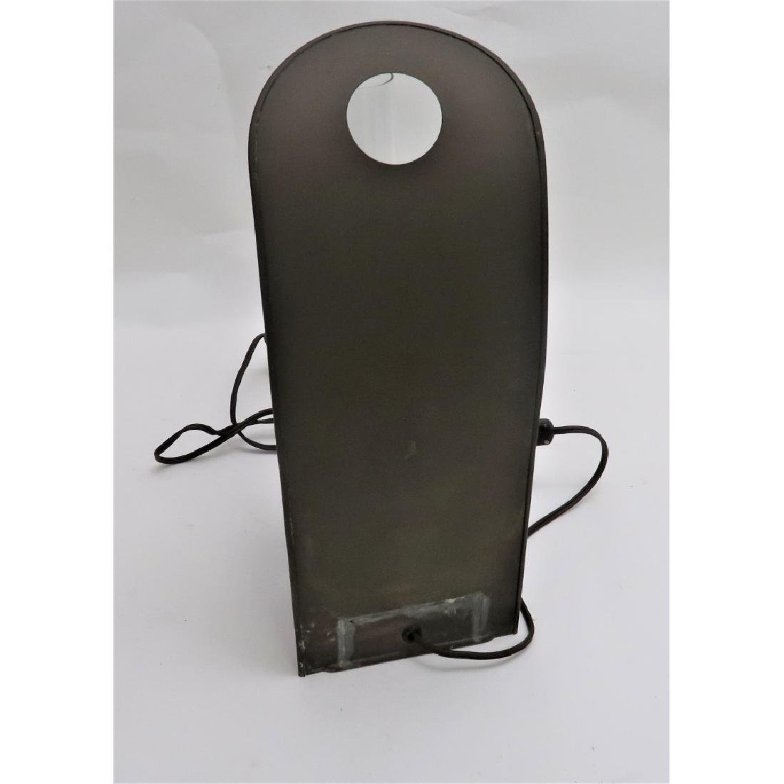 Old Brass Lantern - Electrified - Glass shade is wavy - 4