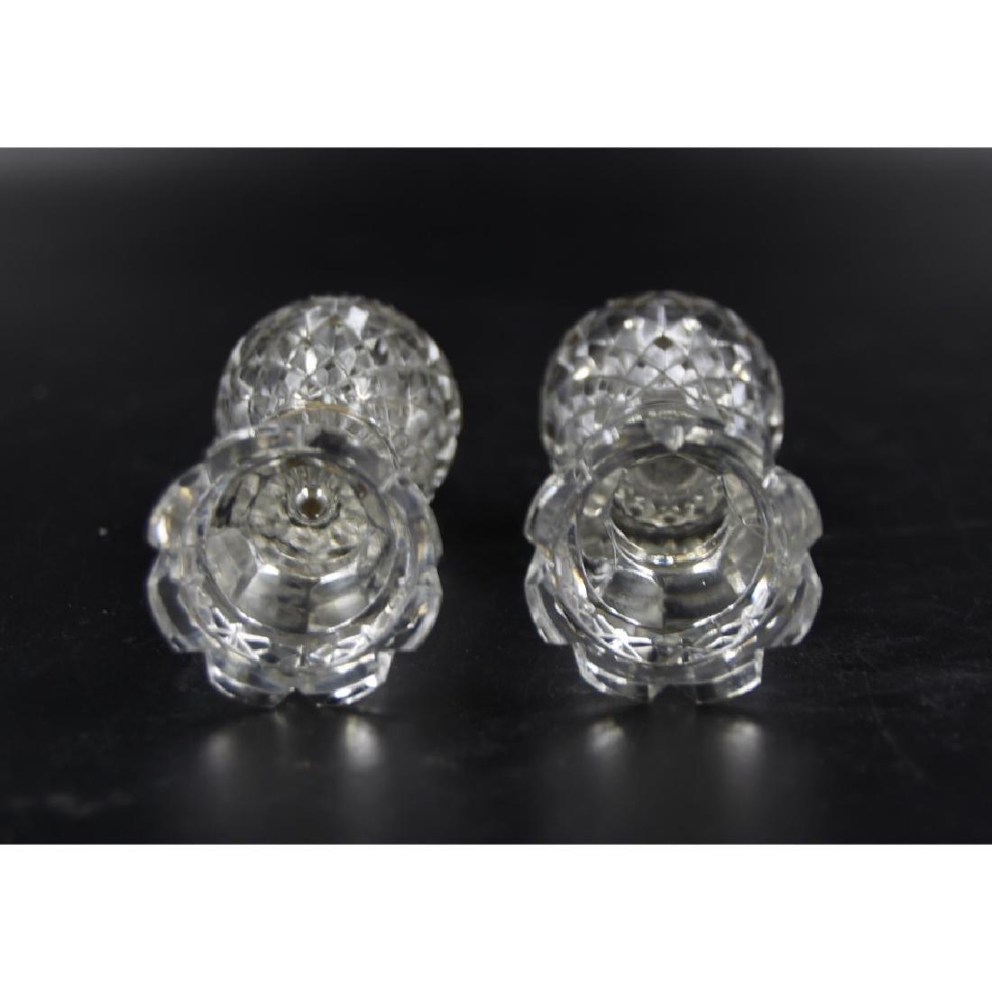 Lead Crystal Salt & Pepper Shakers - 2