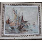 Rodriges (1951-) Oil ON Canvase Signed Low Right