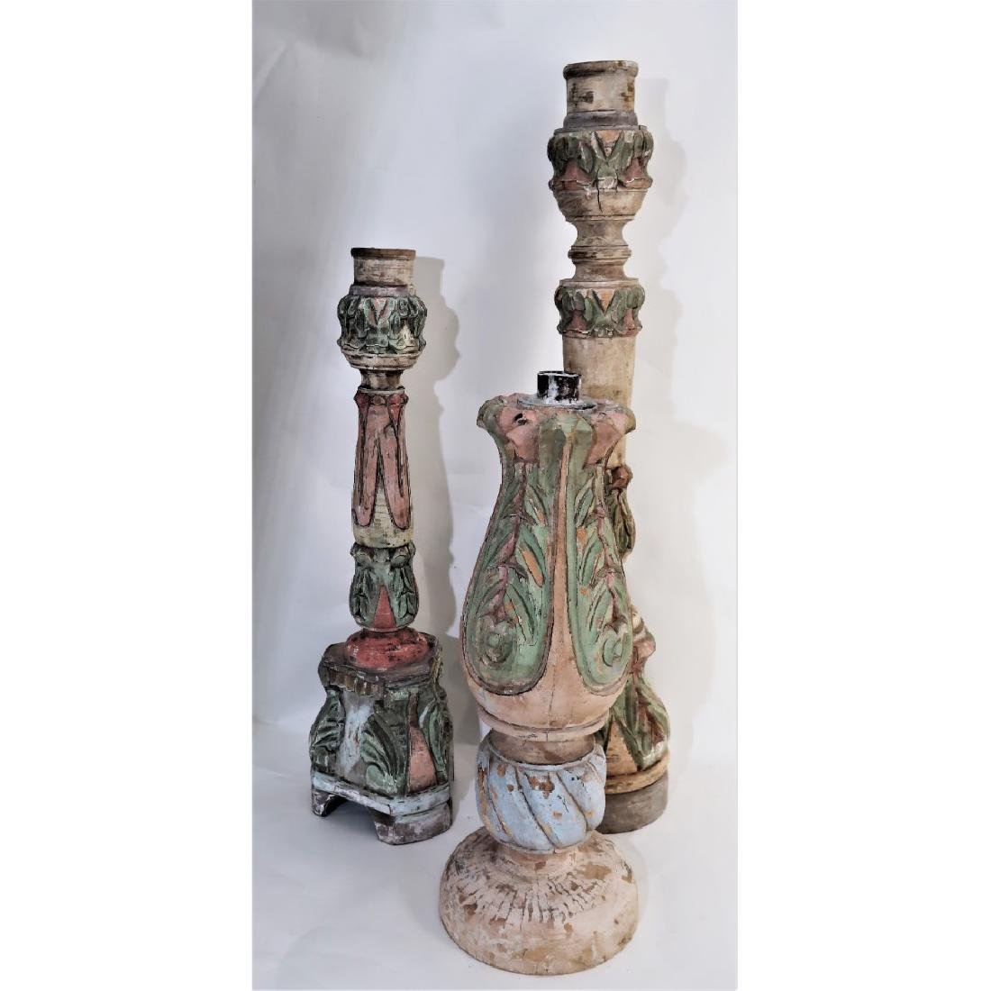 3 giant candlesticks decorative - 2
