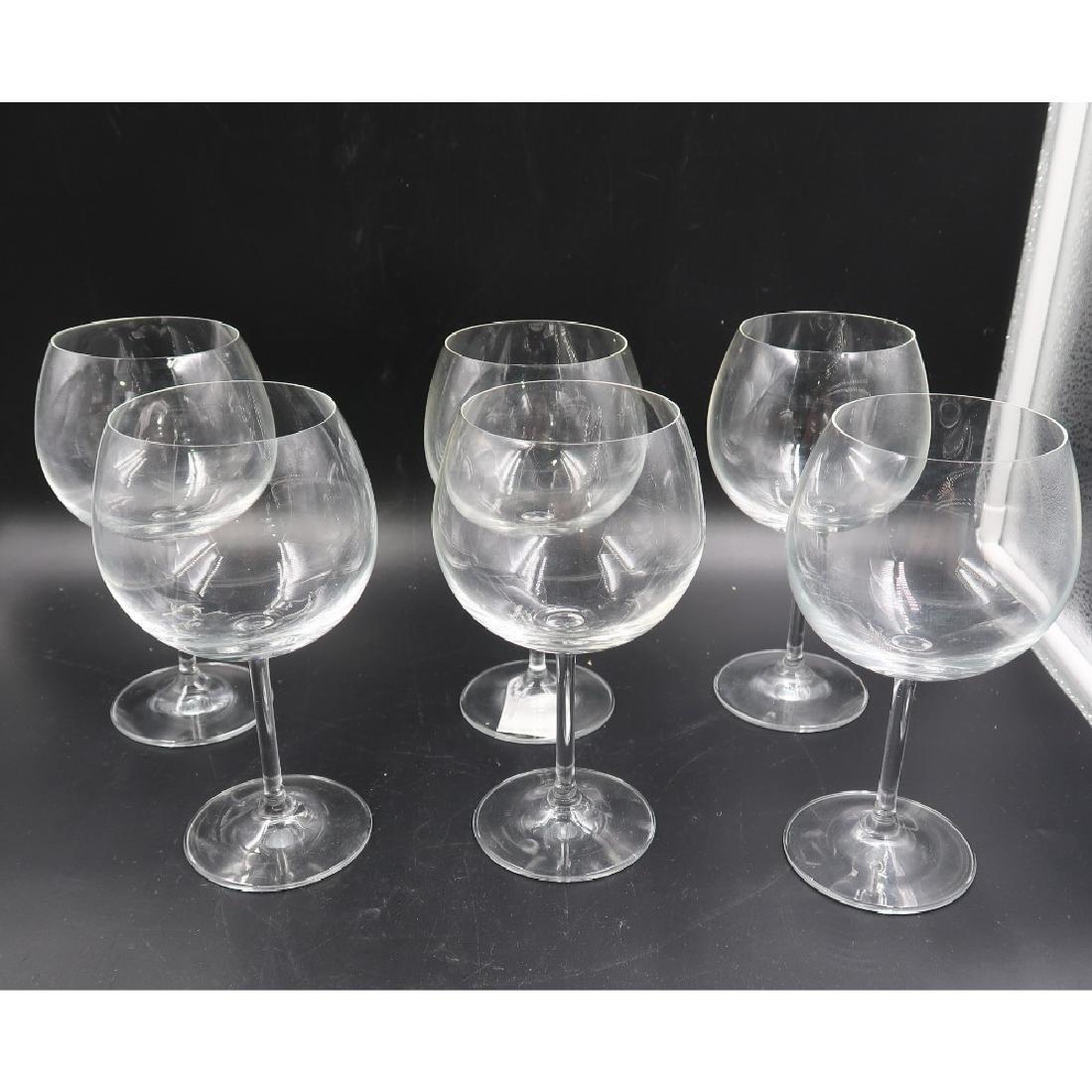 6 crystal wine glasses (balloon)