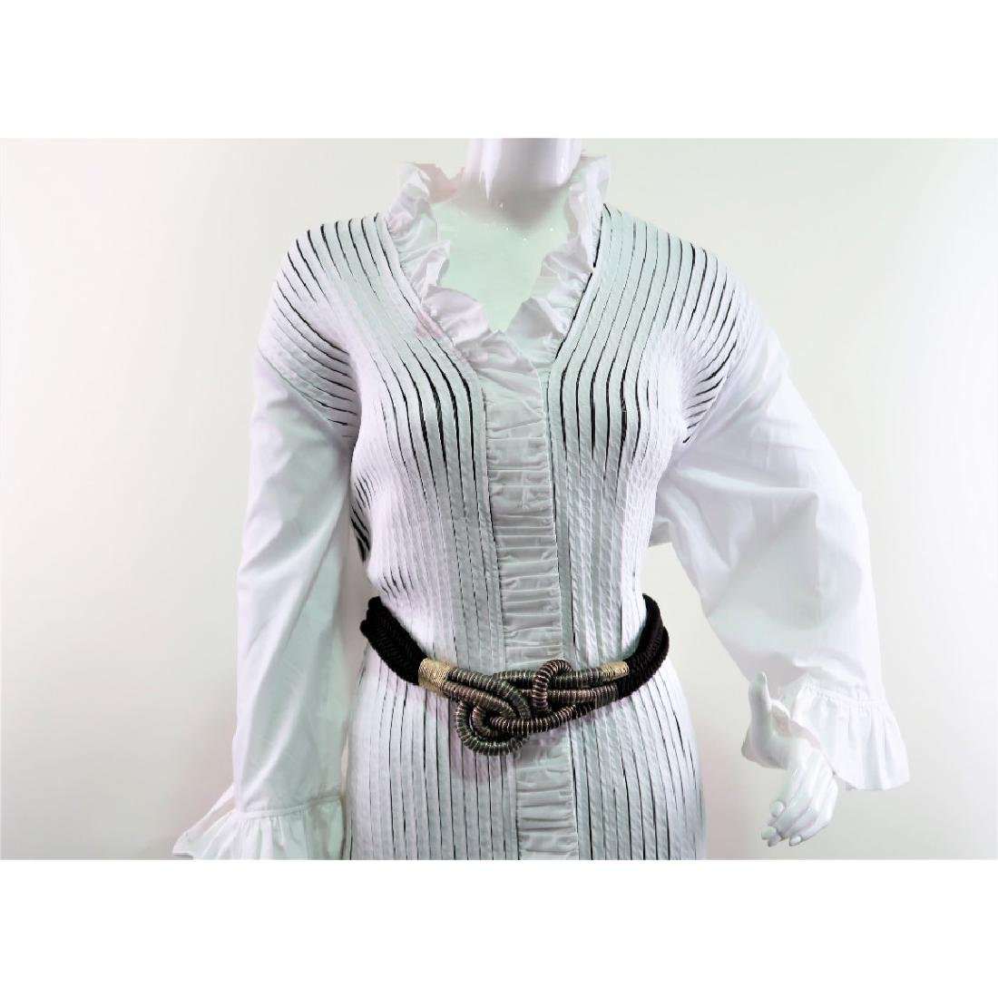 Lesley Gore's White Ruffle Ravel button up Blouse. - 3