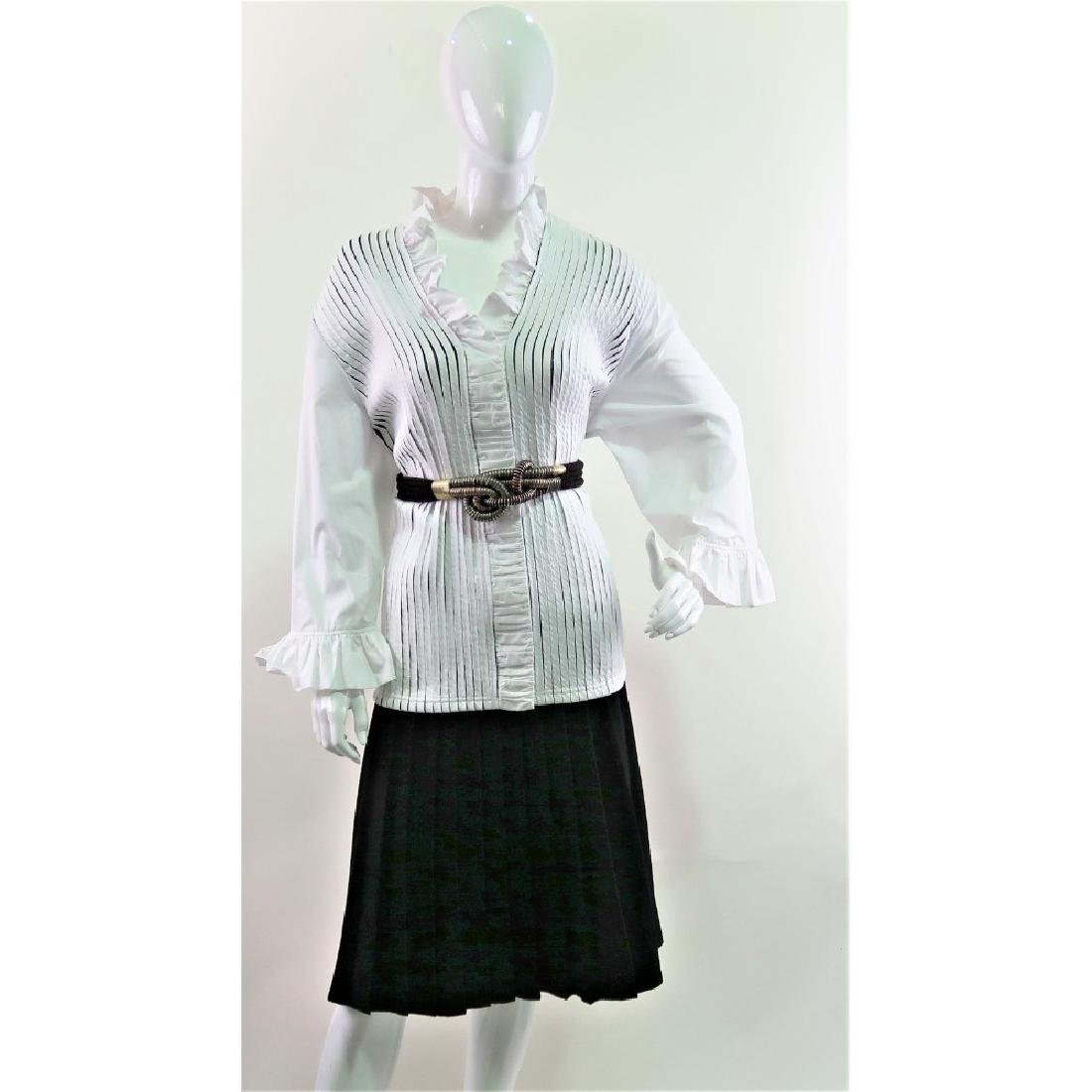 Lesley Gore's White Ruffle Ravel button up Blouse. - 4