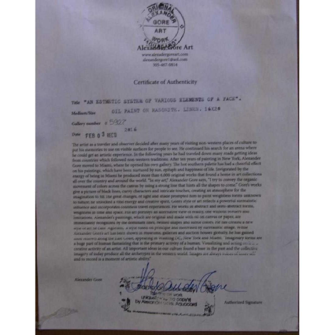 Alexander Gore Original Oil on Board, Signed - 3