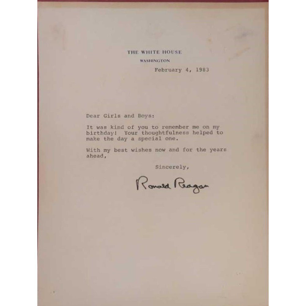 Signed Ronald Reagan Letter