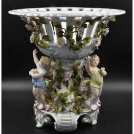 Meissen Porcelain Large Centerpeice with Cupids